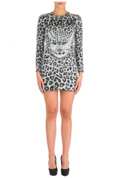 Women's short mini dress long sleeve love me wild(118074405)