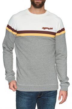 Lightning Bolt Color Block Fleece Crew Pullover - White(110360293)