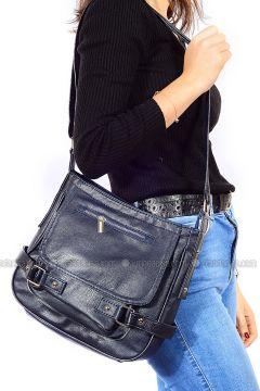 Navy Blue - Shoulder Bags - Vip Moda(110339379)