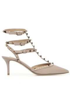Valentino Garavani Kadın Rockstud Bej Deri Topuklu Ayakkabı 38 EU(121159667)