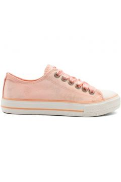 Chaussures Kebello Baskets basses satinées F Rose(115573806)