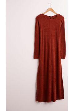 Kadın Beli Bağlama Detaylı Pamuklu Elbise(125084250)