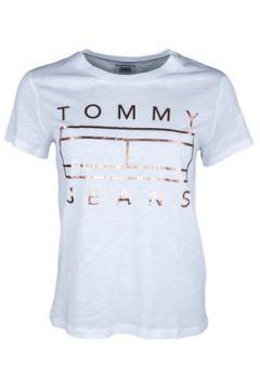T-shirt Tommy Jeans T-shirt col rond blanc logo doré pour femme(115470325)