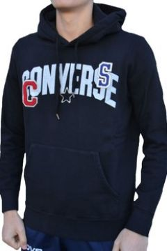 Sweat-shirt Converse Fleece Felpa Logo Patches Cotone Felpato Nera(115476760)