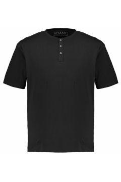 Adamo Fashion: T-Shirt mit Serafinokragen, 5XL, Schwarz(121717765)