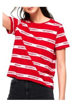 T-shirt Superdry COTE STRIPE TEXT TEE(115505705)