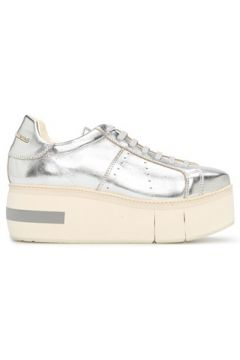 Paloma Barcelo Kadın Mirande Silver Platform Topuklu Deri Sneaker Gri 36 EU(118330344)