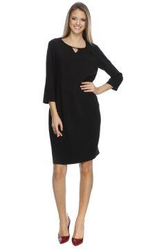 Ekol Düz Kesim Siyah Kadın Elbise(113955884)