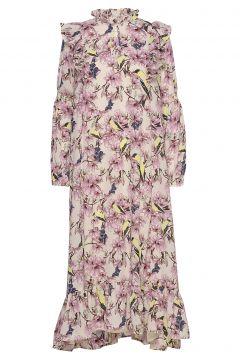 Sanni Dress Kleid Knielang Pink LOLLYS LAUNDRY(114164481)