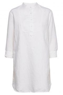 Long Sleeve Shirtdress In Linen-Cotton Kurzes Kleid Weiß GAP(116366956)
