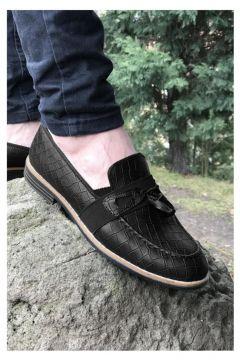 MODA Yeni Model Vizyon (700) Siyah Desenli Erkek Ayakkabı(110951063)