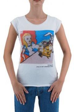 T-shirt Ko Samui Tailors Alice Au Pays des Merveilles T-Shirt Blanc KSU(127969006)