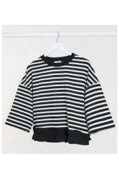 Gebe Maternity - Maglione nero e bianco a righe(122244584)