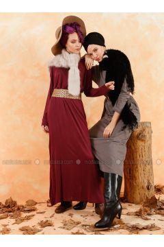 Plum - Crew neck - Unlined - Cotton - Dresses - Muni Muni(110333274)