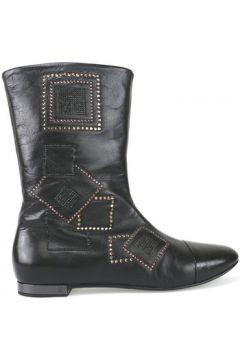 Boots Fabi bottines noir cuir AK816(88469281)