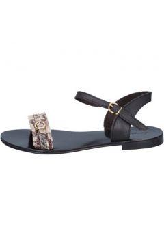 Sandales Calpierre sandales beige cuir noir BZ843(115399033)