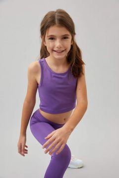 DeFacto Kız Çocuk Slim Fit Yazı Baskılı Crop Atlet(125928708)
