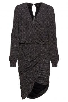 Ravn * Boozt Glimmer Dress Exclusive Kleid Knielang Schwarz RAVN(114164209)