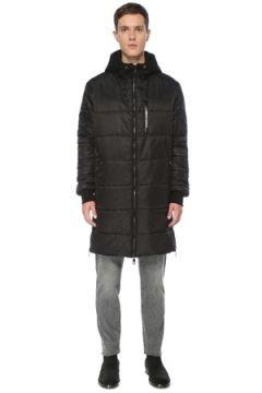 Dolce&Gabbana Erkek Siyah Kapüşonlu Uzun Puff Mont 46 IT(123205229)