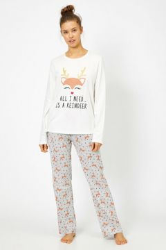 Koton Kadın Yazili Baskili Pijama Seti(99117571)