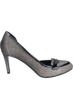 Chaussures escarpins 18 Kt escarpins argent noir cuir vernis glitter BS171(115443108)
