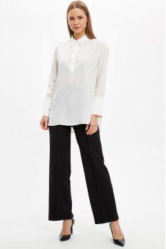 DeFacto Kadın Regular Fit Basic Dokuma Pantolon(125923650)