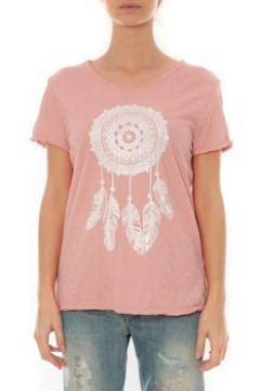 T-shirt By La Vitrine Tee Shirt Anthracite Cake V Rose Pale(127987232)