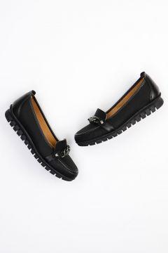 Bambi Siyah Kadın Loafer Ayakkabı(105211919)