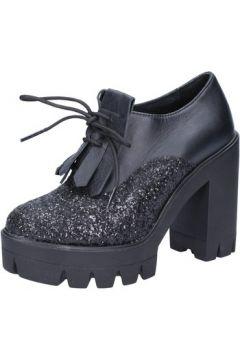 Boots J. K. Acid bottines noir cuir glitter AD757(115394429)