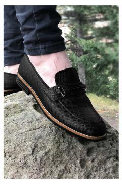 MODA Yeni Model Vizyon Siyah Çizgi Desenli Lastık Tokalı Erkek Ayakkabı(110968830)