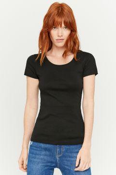 Schwarzes Basic T-Shirt(122988658)