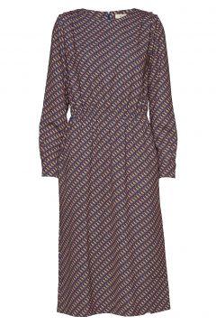 Elay Shirtsleeve Moondog Kleid Knielang Bunt/gemustert WHYRED(114163587)