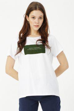 Limon Beyaz - Yeşil T-Shirt(113995801)