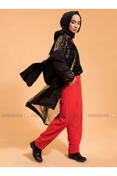 Golden tone - Fully Lined - Crew neck - Jacket - Meryem Acar(110314452)