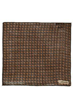 Lardini Erkek Kahverengi Desenli Yün Poşet Mendil EU(121159704)