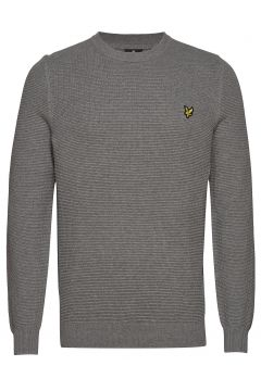 Grid Stitch Jumper Strickpullover Rundhals Grau LYLE & SCOTT(113823230)