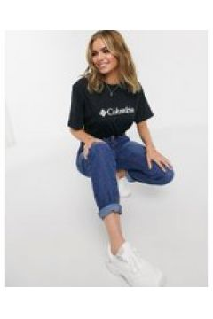 Columbia - CSC - T-shirt basic nera con logo-Nero(120359727)