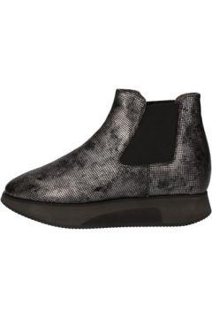 Bottines Guardiani bottines gris cuir textile AD307(88482239)