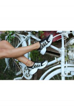 Dizzy Gümüş Likralı Rahat Sneaker Ayakkabı(119319300)