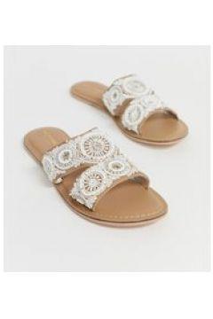 Accessorize - Sandali estivi bassi decorati con perline crema-Beige(123208683)