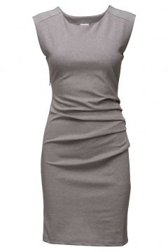 India Round-Neck Dress Kleid Knielang Grau KAFFE(108839507)