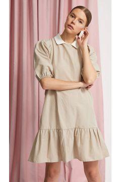 DeFacto Kadın Kemerli Balon Kol Elbise(119060812)
