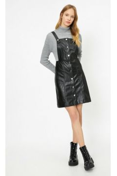 Koton Kadın Deri Görünümlü Elbise(113405750)