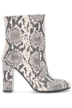 Boots Via Roma 15 Bottines en cuir imprimé python couleur pierre(115496549)