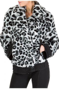 Faux fur jacket women love me wild(118071221)