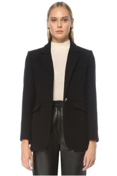 Academia Kadın Siyah Tek Düğmeli Yün Ceket 34(123319727)