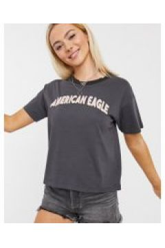 American Eagle - Maglietta nera con logo-Nero(120856867)
