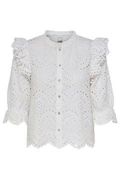 ONLY Rüschen Hemd Damen White(116244618)