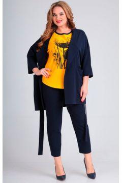 Комплект брючный Andrea Style 00261 синий с желтым(115246001)
