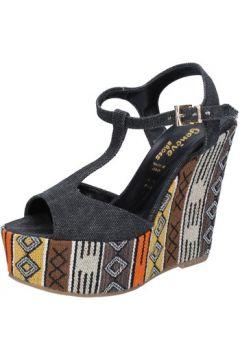 Sandales Geneve Shoes sandales noir textile BZ891(115399063)